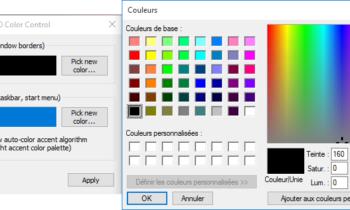 Windows 10 : Ajuster la couleur du menu Démarrer et de la barre des tâches