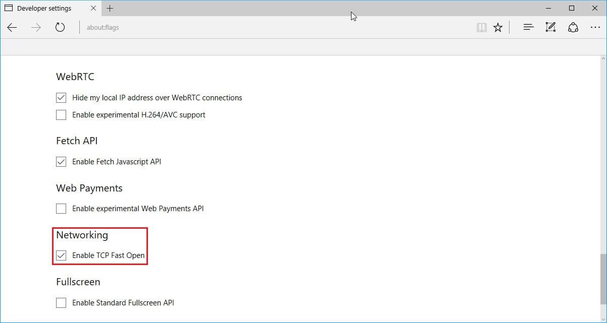 acc u00e9l u00e9rer le navigateur microsoft edge en activant le tcp fast open  u2013 justgeek