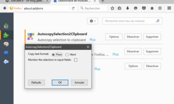 Copier automatiquement le texte sélectionné sous Firefox