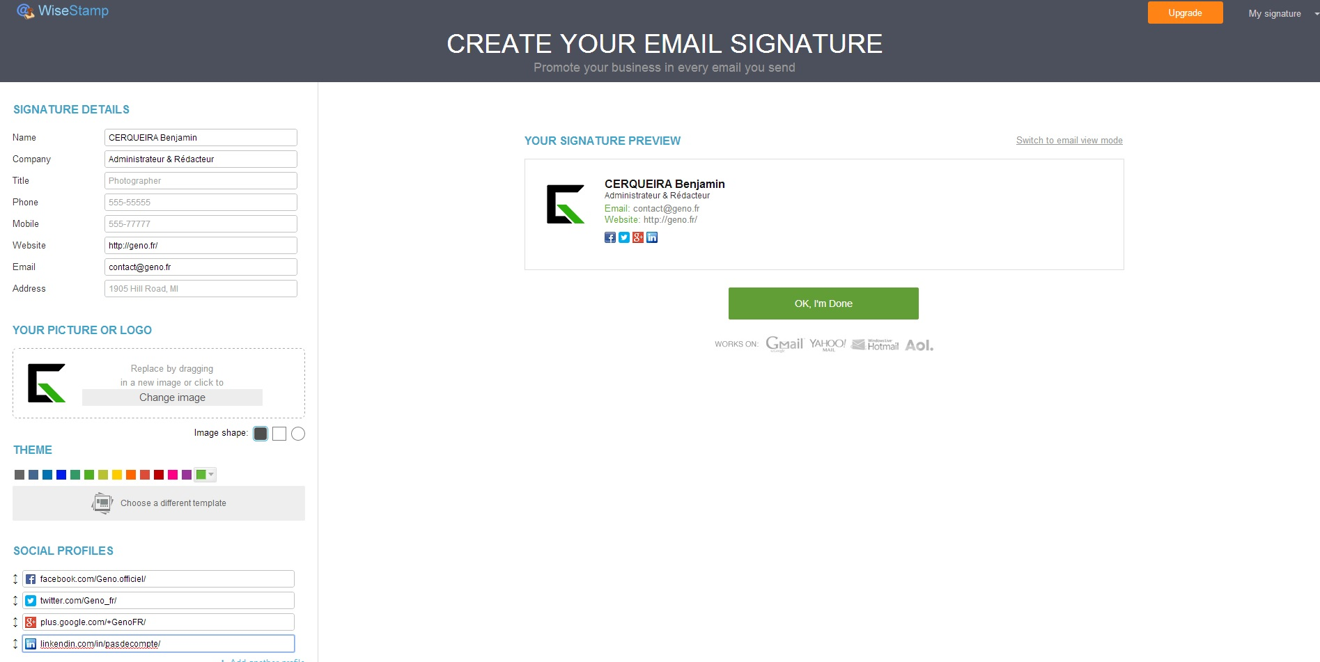 creer-signature-e-mail-dynamique-wisestamp