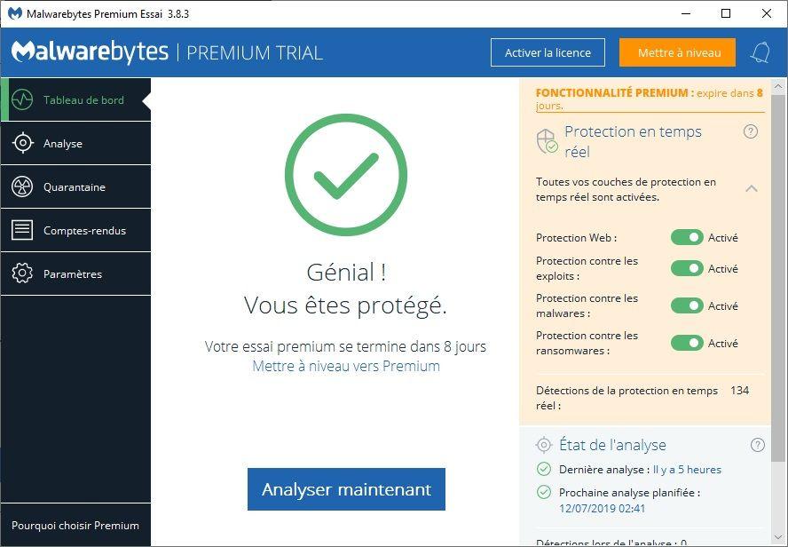 Malwarebytes Premium Trial : Éradique les cybermenaces