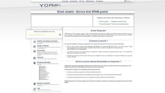 Créer une adresse email jetable ou temporaire avec YOPMail