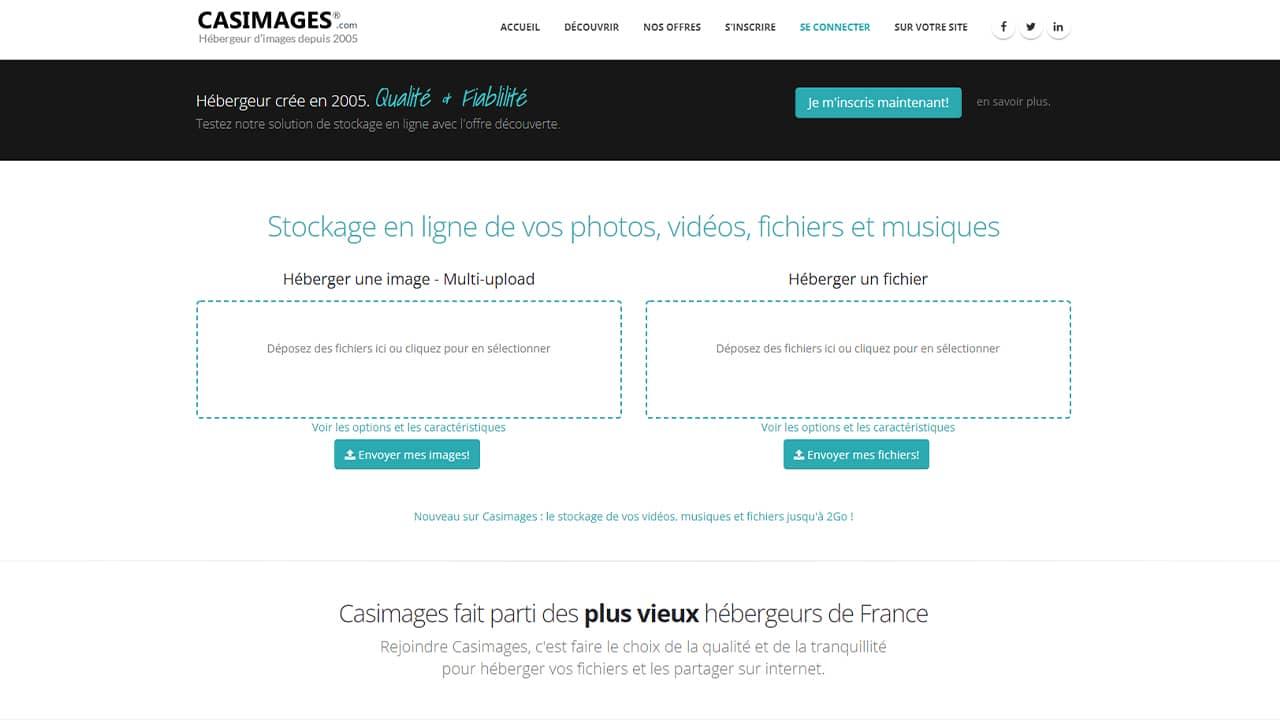 Casimages : hébergeur d'images gratuit