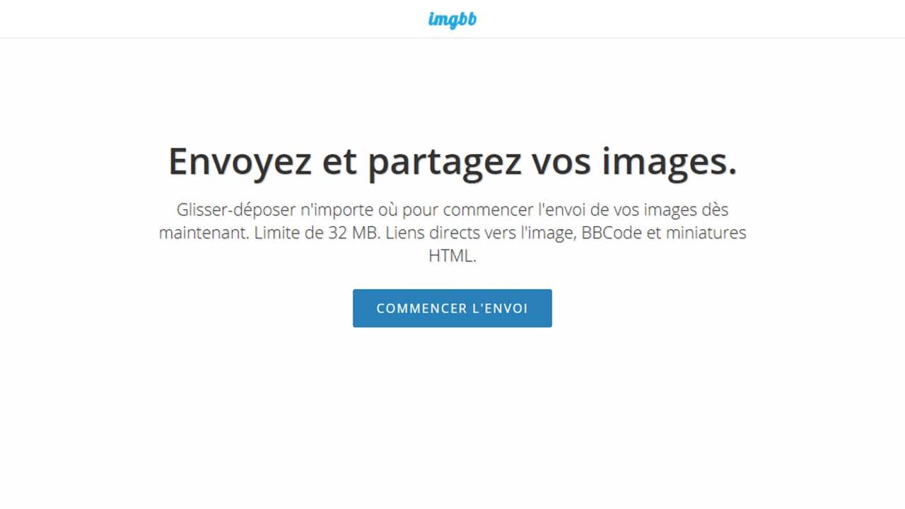 Héberger des images ou photos avec ImgBB
