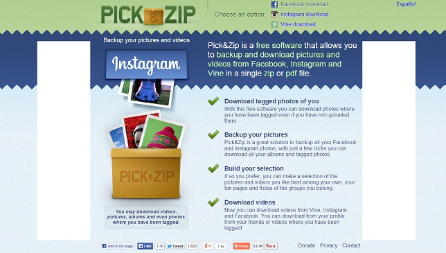 picknzip-recuperer-photos-facebook-instagram-vine