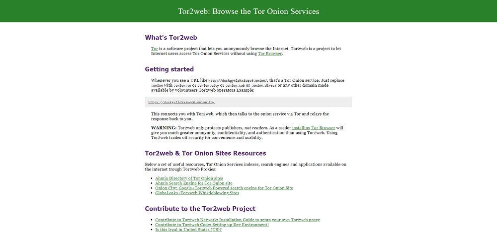 Accédez aux sites Tor en  onion… sans Tor