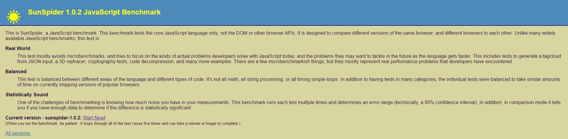 SunSpider-JavaScript-Benchmark