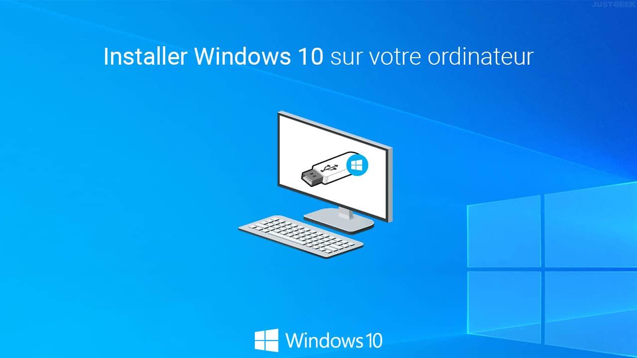 Installer Windows 10 sur un ordinateur
