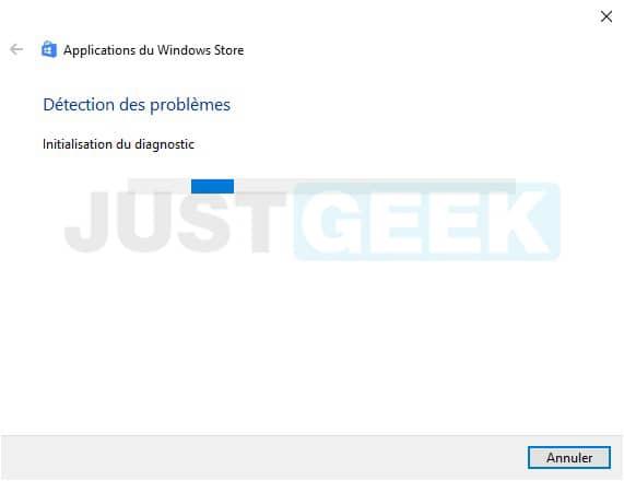 Détection des problèmes du Microsoft Store