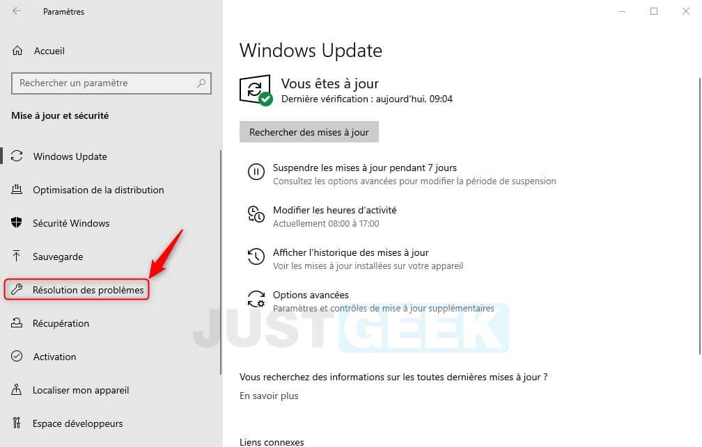 Résolution des problèmes Windows 10