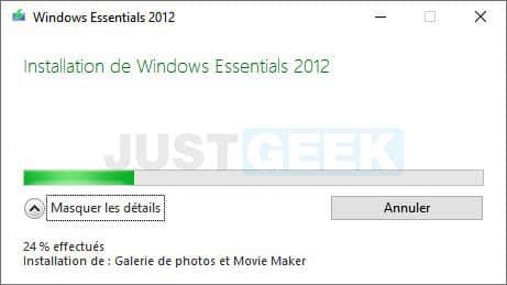 Installation de Movie Maker sur Windows 10