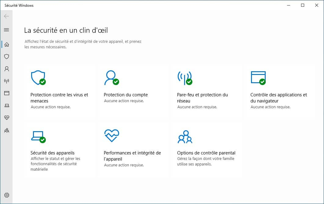 Windows Defender sur Windows 10