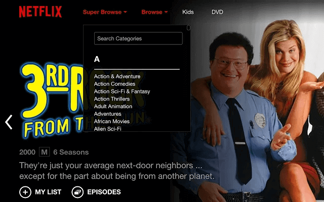 Super Browse for Netflix
