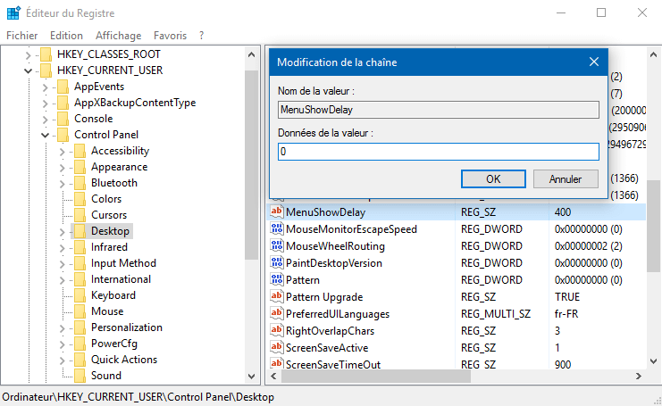 accelerer_ouverture_menu_demarrer_windows