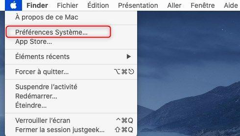 Préférences systèmes macOS