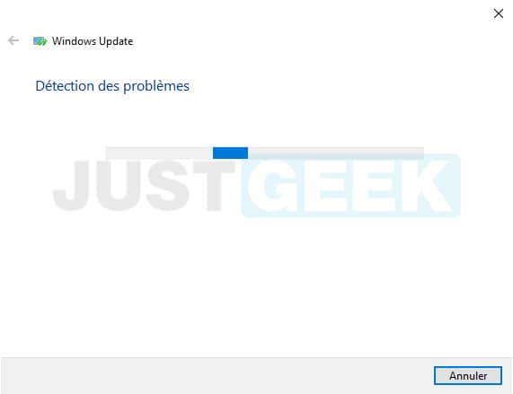 Réparation de Windows Update