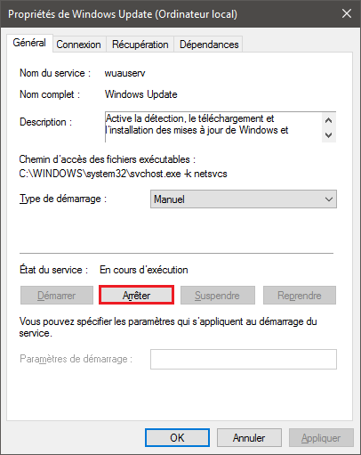 arreter_windows_update_services_windows10