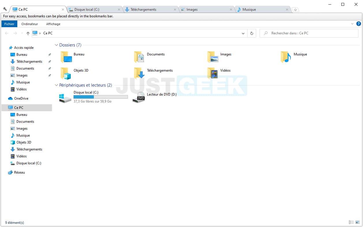 Clover : ajouter la navigation par onglets dans l'Explorateur de fichiers Windows