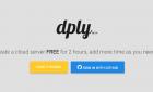 Dply : Créer un serveur virtuel privé (VPS) gratuit pour 2 heures