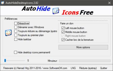 Masquer automatiquement les icônes du bureau avec AutoHideDesktopIcons