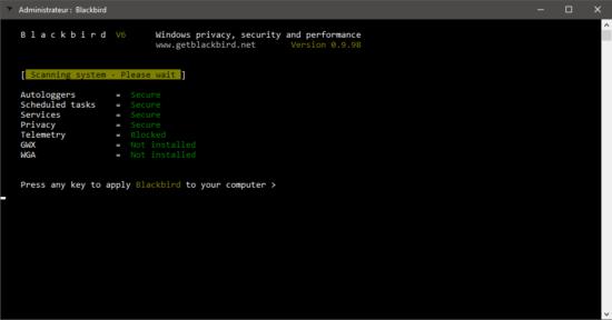 Blackbird améliore la confidentialité et la sécurité de Windows 10