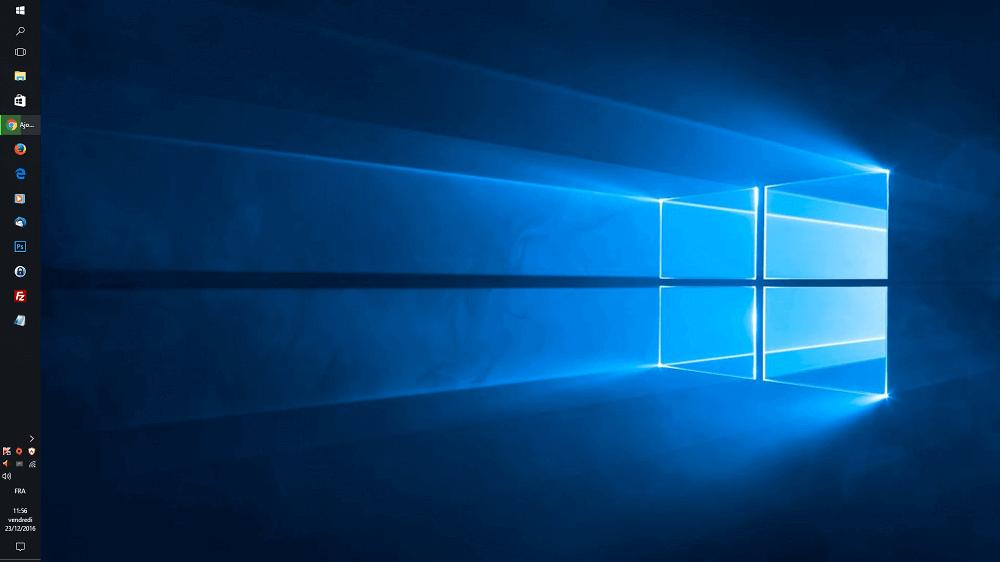 Windows 10 : Changer la position de la barre des tâches