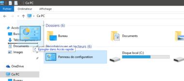Ajouter le Panneau de configuration à l'Explorateur de fichiers Windows 10