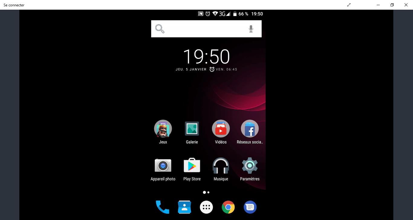 Afficher écran smartphone sur PC