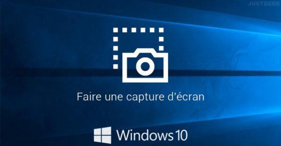 Faire une capture d'écran sous Windows 10