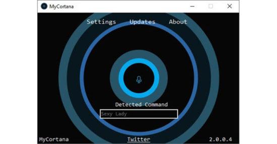 Renommer Cortana sur Windows 10