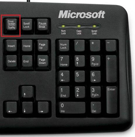 Touche de clavier Impr. Écran
