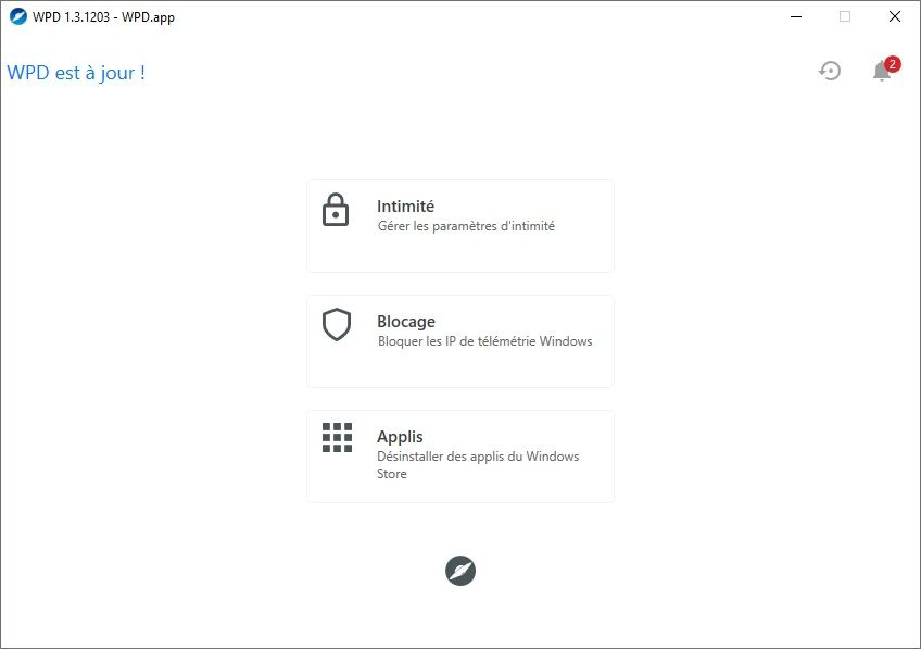 WPD : Bloquer la télémétrie de Windows 10