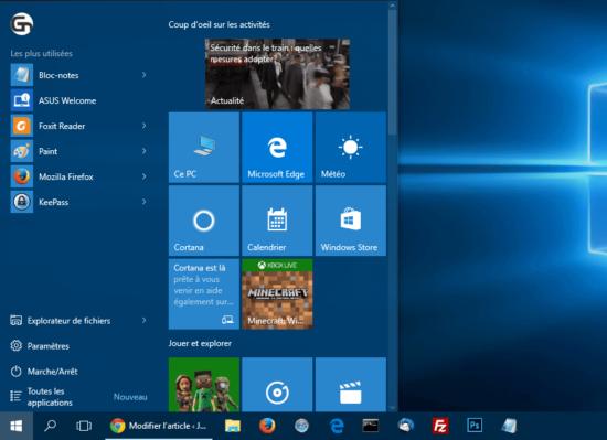 Windows 10 : exporter et importer la personnalisation du menu Démarrer