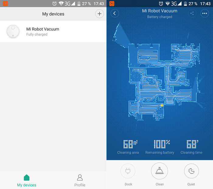 Application Mi Home (Android)
