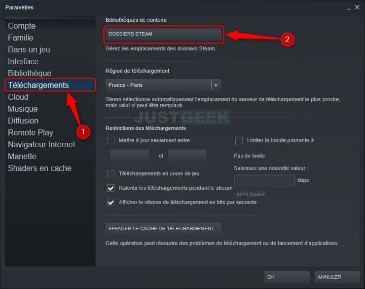 Déplacer un jeu Steam d'un disque dur à un autre