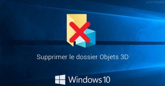 Supprimer le dossier Objets 3D dans Windows 10