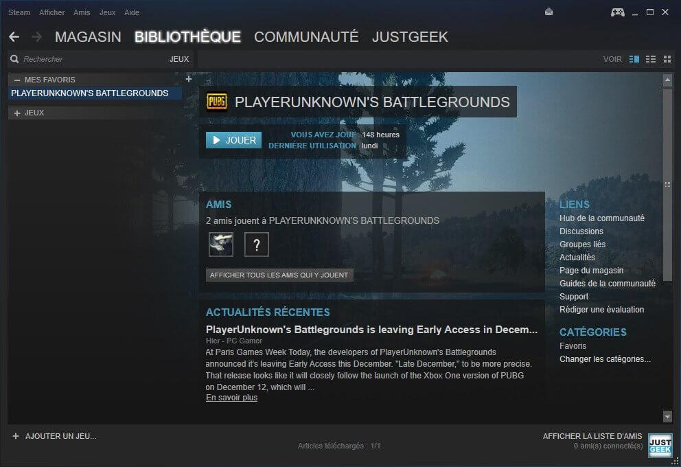 Bibliothèque de jeux Steam