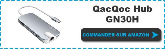 Bouton commander Hub QacQoc GN30H Premium USB-C