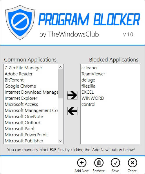 Program Blocker