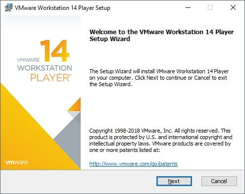 Procédure installation VMware Workstation Player Free