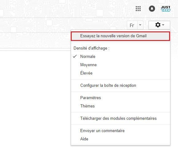 Essayez la nouvelle version de Gmail
