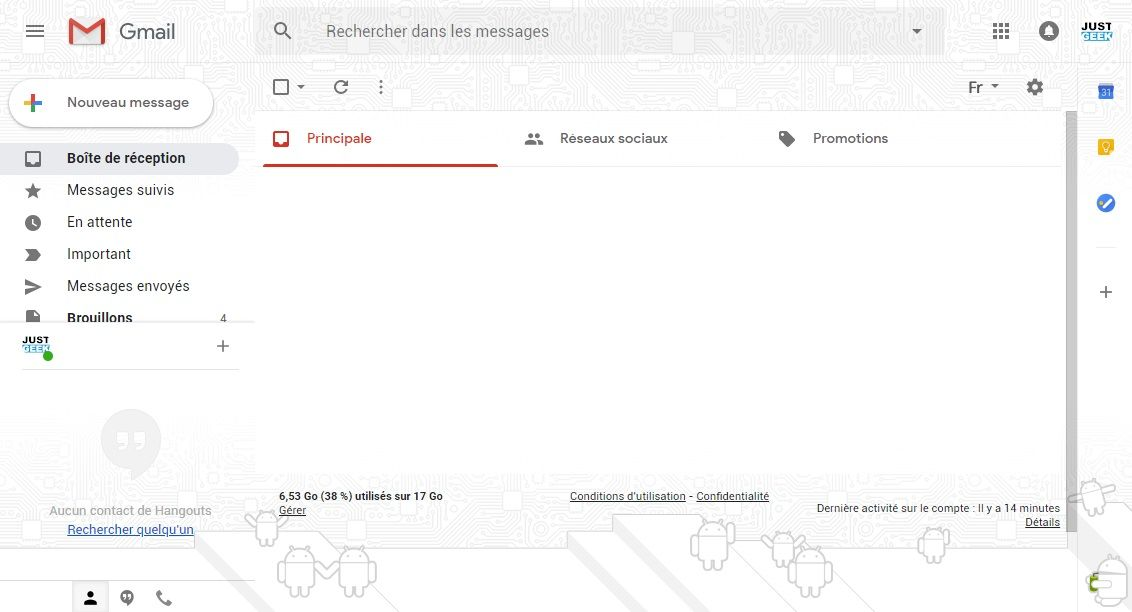 Nouvelle version Gmail 2018
