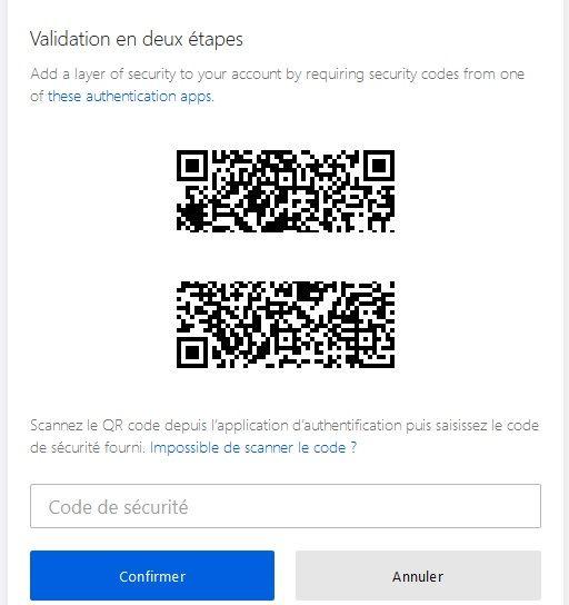 Activer la double authentification sur votre compte Firefox étape 5