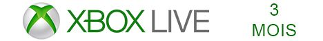 Xbox Live 3 mois pas cher