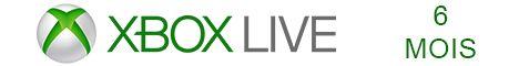 Xbox Live 6 mois pas cher