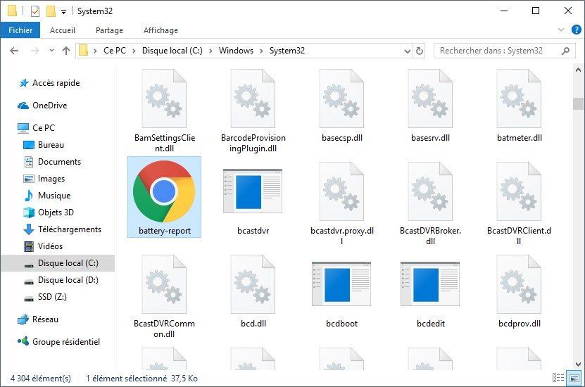 Fichier rapport autonomie batterie PC portable