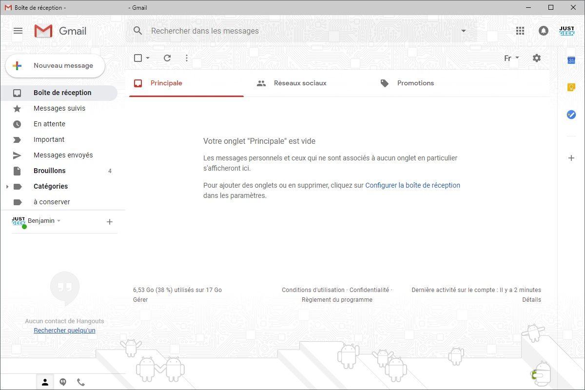 Gmail Application de bureau Windows