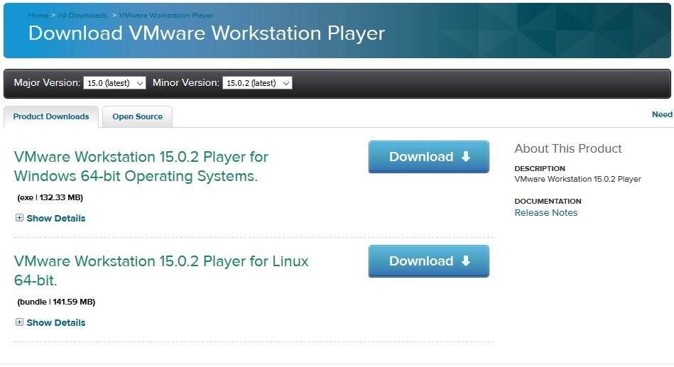 Télécharger VMware Workstation Player