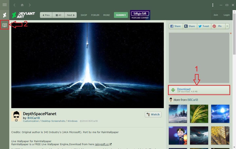 Fonds d'écran animés DeviantArt