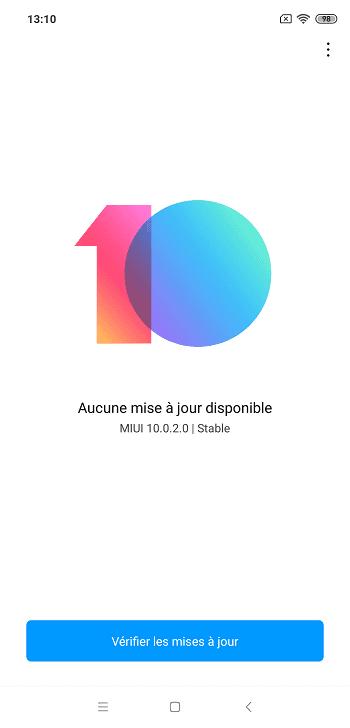 MIUI 10.0.2.0 Xiaomi Mi 8